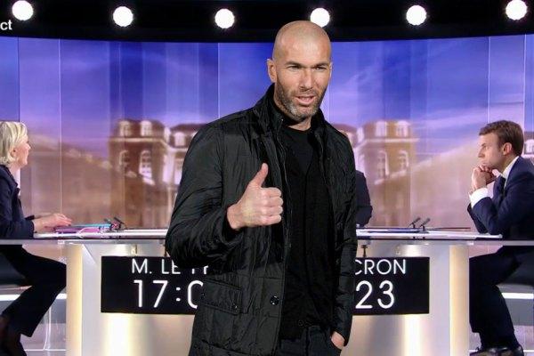 """DÉBAT PRÉSIDENTIEL : Zidane soutient Macron : """"File-lui un coup de boule à cette conne !"""""""