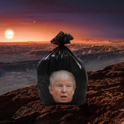 Donald Trump achète une exoplanète habitable pour en faire une décharge de déchets radioactifs
