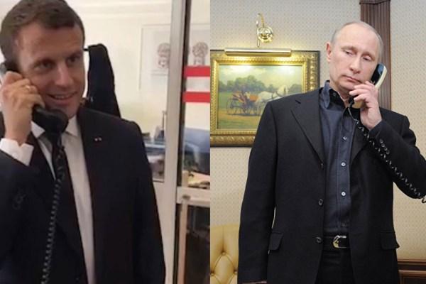 Quand Emmanuel Macron fait un canular téléphonique à Vladimir Poutine