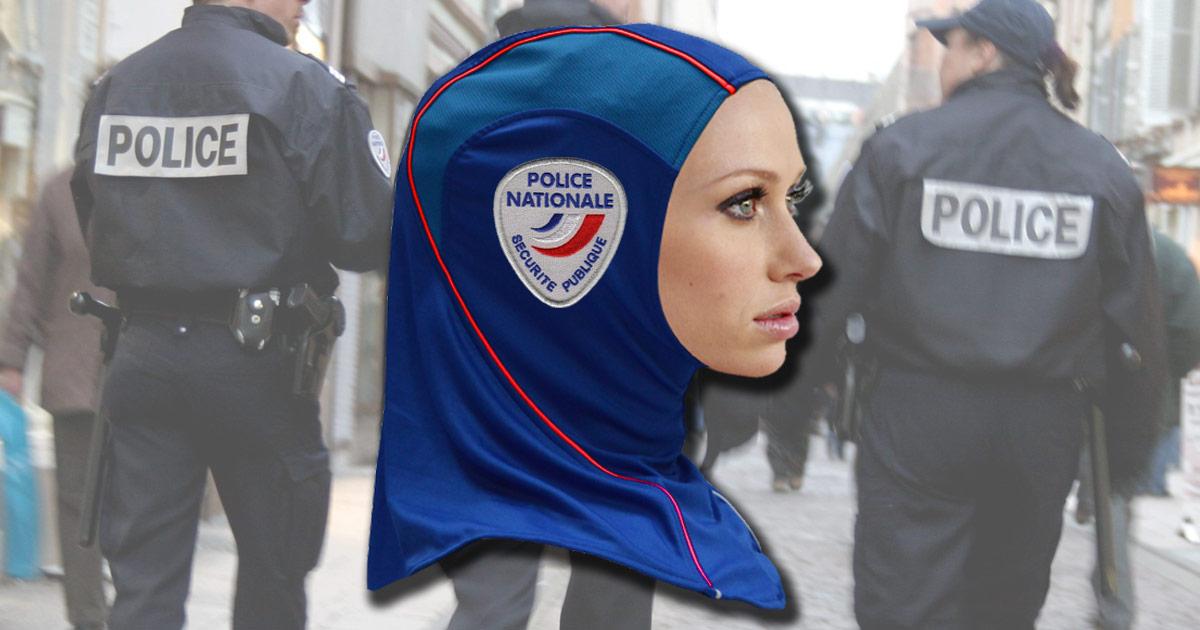 hijab-police-france-voile-foulard Tournante des corvées à l'Élysée : cette semaine c'est Gérard Collomb qui passe l'aspirateur