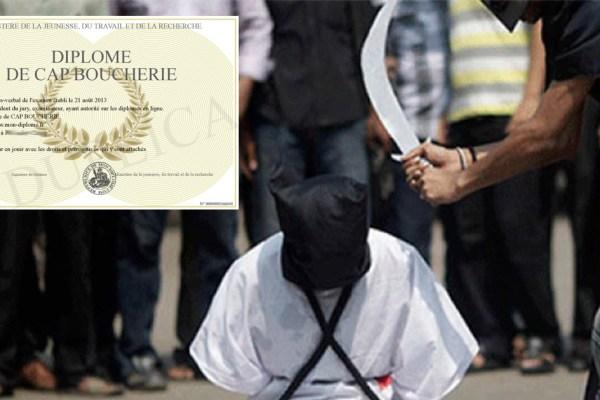 Les djihadistes ayant pratiqué des décapitations en Syrie recevront leur CAP boucher en France