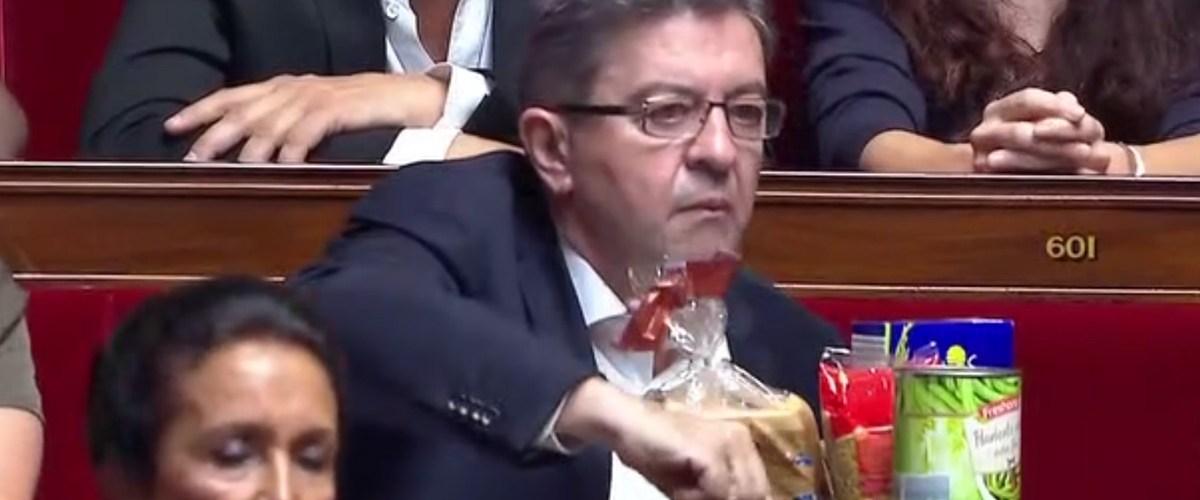 En hypoglycémie, Mélenchon déballe son pique-nique en pleine séance à l'Assemblée