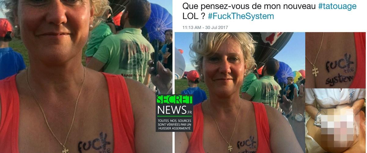 """Fuck The System"" : Le nouveau tatouage surprenant de Nadine Morano"
