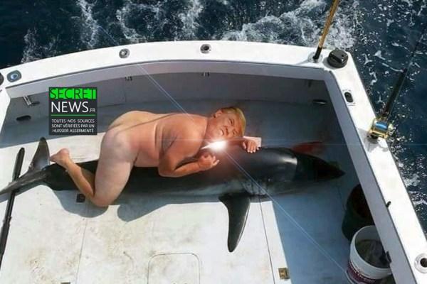 Donald Trump chasse le requin, tout nu sur son bateau (PHOTOS 18+)