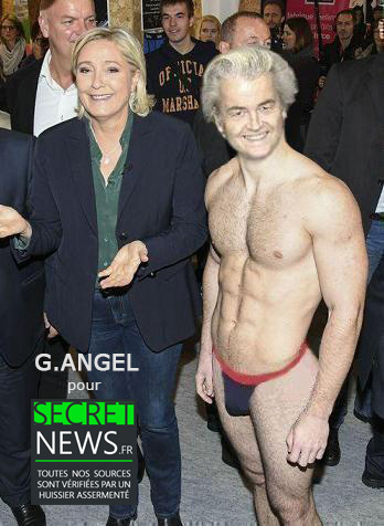 Marine-Gert-Wilders-en-string Geert Wilders a offert un strip-tease à Marine Le Pen pour son anniversaire