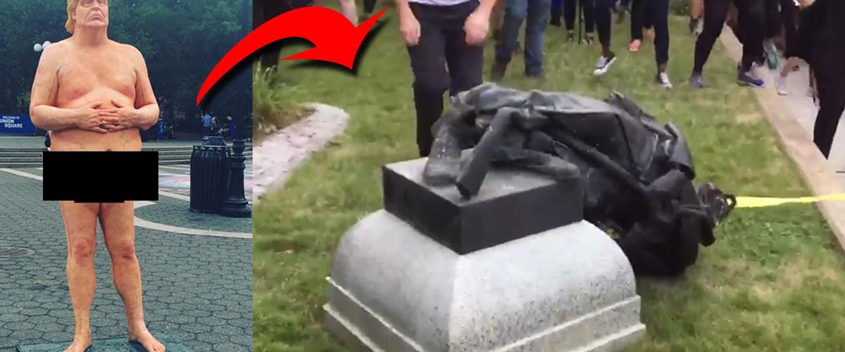 Des statues de Donald Trump remplaceront les statues confédérées détruites