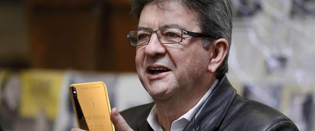 Jean-Luc Mélenchon possède un iPhone X Gold de luxe à 69.000 euros