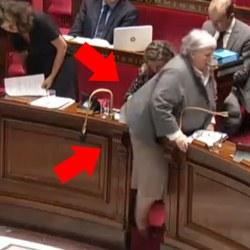 La ministre Jacqueline Gourault déchire sa jupe en sortant de l'hémicycle de l'Assemblée
