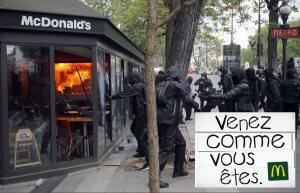"""""""Venez comme vous êtes"""" : McDonald's envisage de changer de slogan suite aux débordements du 1er mai"""