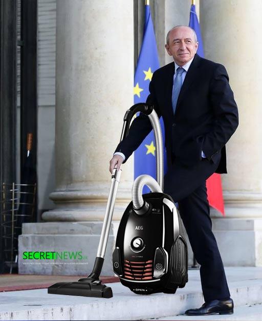 gerard-collomb-menage-aspirauer-nettoyage-elysee-1-1 Tournante des corvées à l'Élysée : cette semaine c'est Gérard Collomb qui passe l'aspirateur