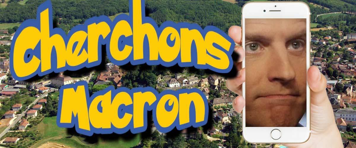 """Avec l'application """"Cherchons Macron"""", partez à la chasse au président façon Pokémon Go"""