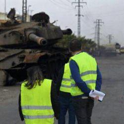 Un blindé détruit par les Gilets Jaunes ce matin à Villeneuve-Loubet