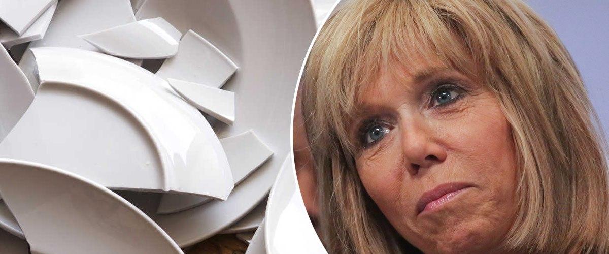 """""""J'espère que les Gilets Jaunes ne casseront pas d'assiettes"""", Brigitte Macron inquiète pour la vaisselle de l'Élysée"""