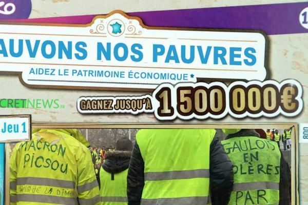 """""""Sauvons nos pauvres"""" – La hausse du SMIC sera financée par un Loto du Patrimoine Économique"""