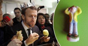 Galette des rois : Emmanuel Macron s'étouffe en avalant une fève Gilet Jaune …