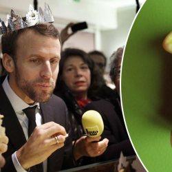 Galette des rois : Emmanuel Macron s'étouffe en avalant une fève Gilet Jaune ...