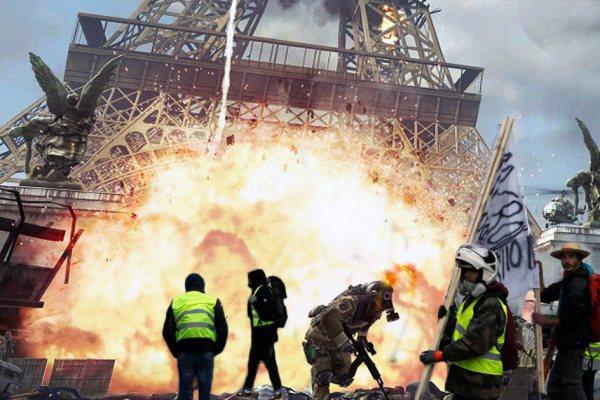 Les Gilets Jaunes ont fait tomber la tour Eiffel (pour la 4ème fois)