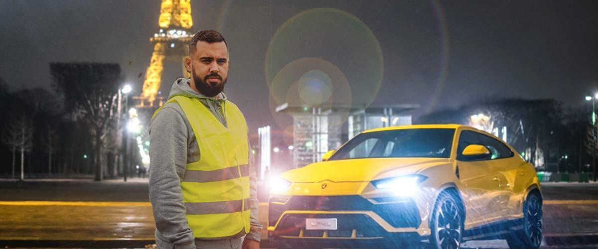 Voiture de Éric Drouet vandalisée : il s'offre une Lamborghini à 250.000 € avec la cagnotte des Gilets Jaunes