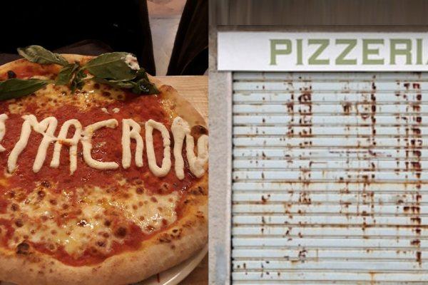 Crise politique France/Italie : Macron ordonne la fermeture des pizzerias