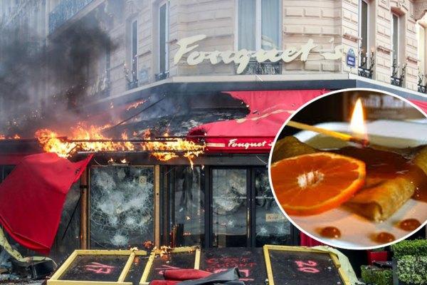 Le Fouquet's : une crêpe Suzette flambée au Grand Marnier à l'origine de l'incendie