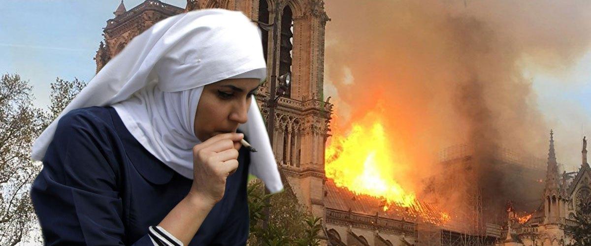 """""""J'ai voulu allumer mon joint avec le cierge Pascal"""" : une nonne responsable de l'incendie de Notre-Dame"""