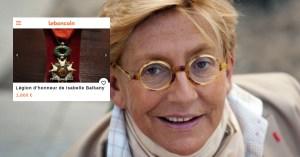 """""""A moi ils ne la prendront pas"""" : Isabelle Balkany vend sa Légion d'honneur sur Le Bon Coin"""