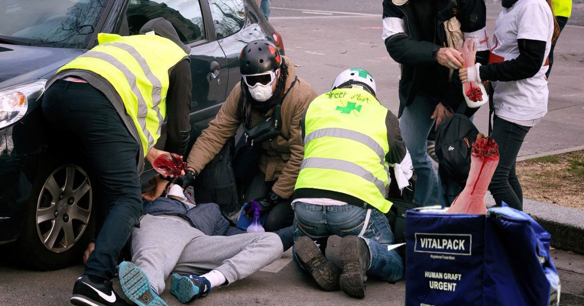 street-medics-gilets-jaunes SecretNews