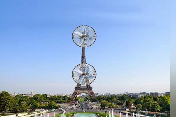 Canicule : des ventilateurs géants installés sur la tour Eiffel et les grands monuments de France