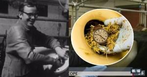 Il perd sa montre dans une vache à hublot en 1969, et la retrouve 50 ans plus tard