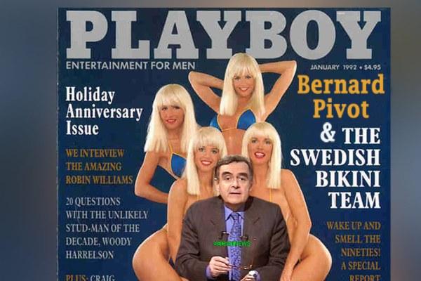 Quand Bernard Pivot posait en couverture de Playboy avec des Suédoises en bikini