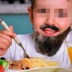 Depuis qu'il a mangé des spaghettis halal, la barbe de cet enfant a poussé