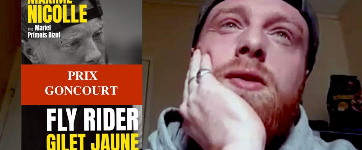 """Maxime Nicolle finaliste du prix Goncourt avec son livre """"Fly Rider, gilet jaune"""""""