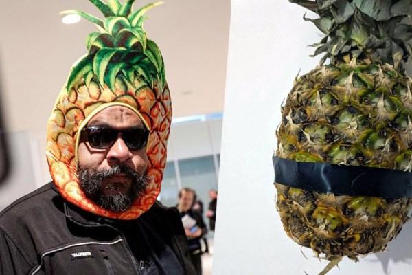 Art contemporain : Dieudonné scotche un ananas et vend l'œuvre 1,49€