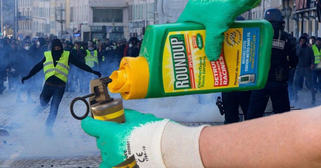 Le glyphosate sera recyclé en gaz lacrymogène pour les forces de l'ordre