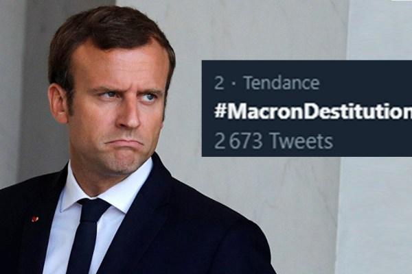 Selon une loi de 1687, si #MacronDestitution est partagé 99999 X, Macron doit démissionner