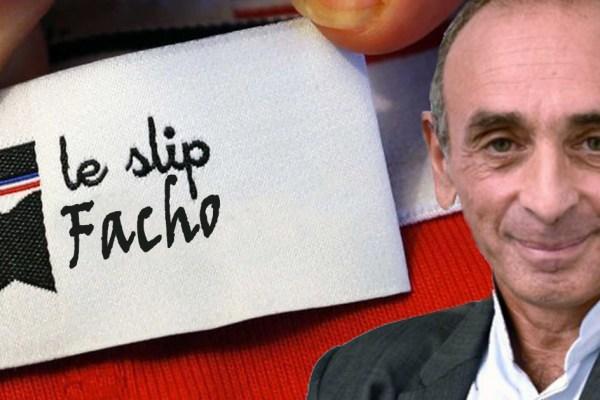 Zemmour nommé happiness manager de Le Slip Français, rebaptisé Le Slip Facho