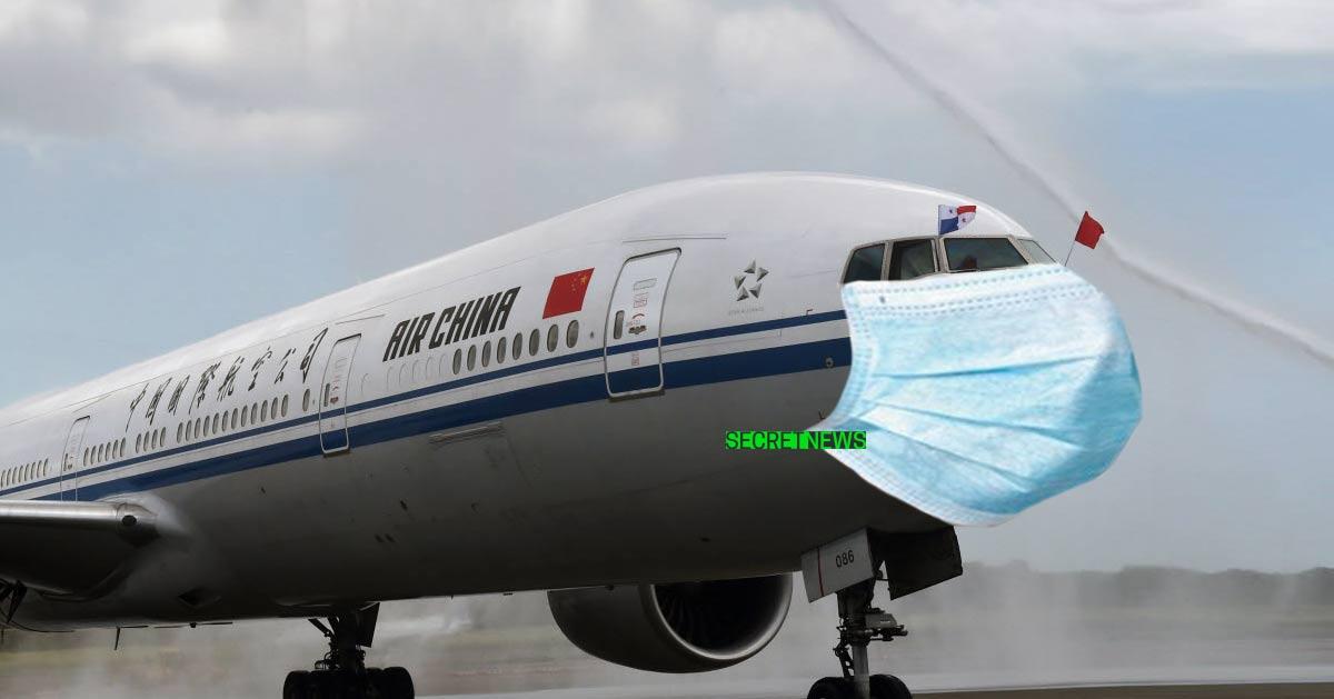 avion-masque-coronavirus Le coronavirus diffusé dans les chemtrails des avions en provenance de Wuhan
