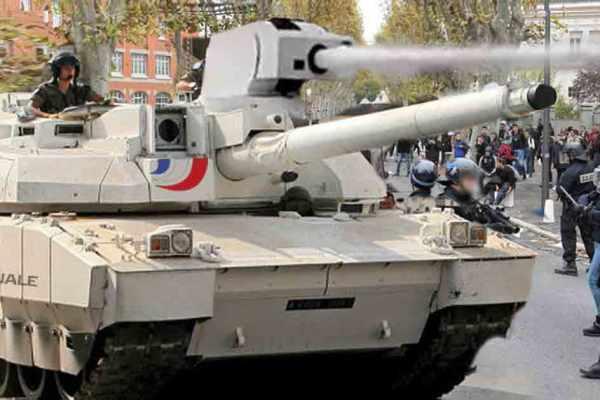 Castaner annonce la fin des canons à eau, remplacés par des chars Leclerc
