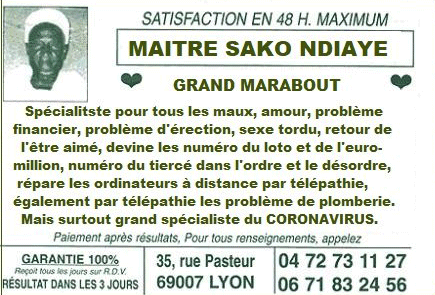 marabout Après le Professeur Raoult, Macron a rencontré le marabout Sako Ndiaye