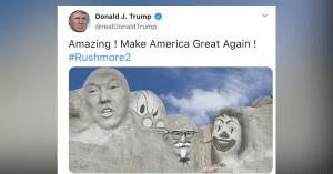 """Donald Trump présente son projet de """"Mont Rushmore 2"""""""