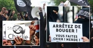Paris : manifestation de l'État Islamique contre les déménagements de Charlie Hebdo
