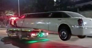 La limousine de Trump embarquée car garée sur 3 places d'ambulances devant les urgences