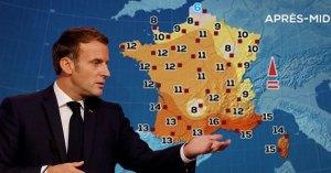 Emmanuel Macron présente par surprise la météo et apparait dans Plus Belle La Vie