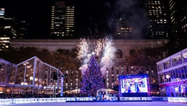 one night only after hours skating at bryant parks winter village - Bank Of America Christmas Eve Hours