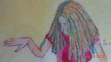 Sister in Watercolour/Pastel