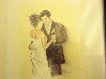 Kemper & Susan First Dance in Charcoal