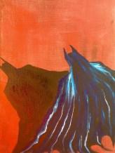 """9x12 Acrylic Painting """"Batman"""" (unfinished)"""