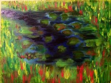 My homage to Debussy. I painted most of this with my eyes closed. (oils)