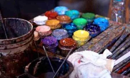 lagrimas azules-pintura. Foto de Amie Fedora