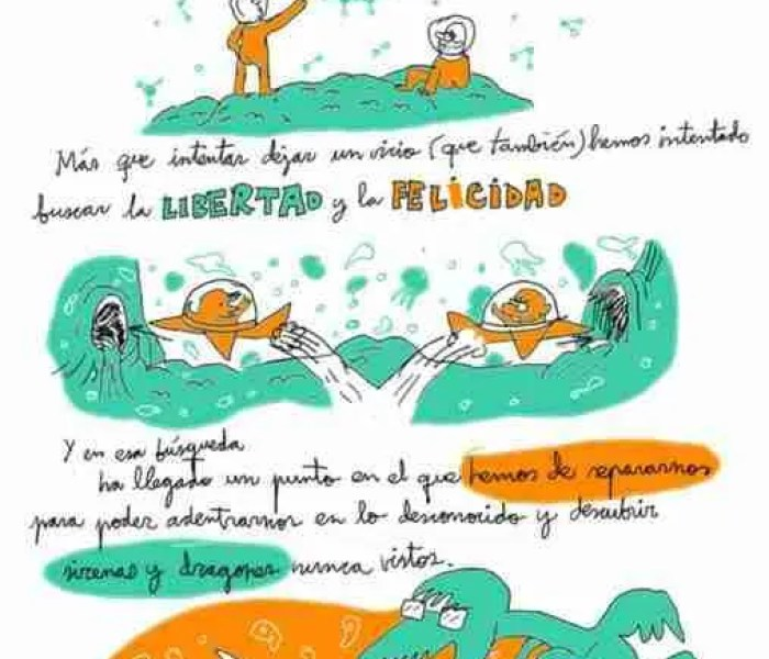 Autoayuda Ilustrada. Un cómic de Wences Lamas y Jesús Llorente para dejar de fumar y beber
